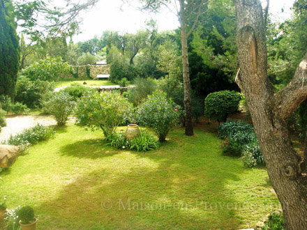 The garden of the holiday rental Villa at Orange ,Vaucluse
