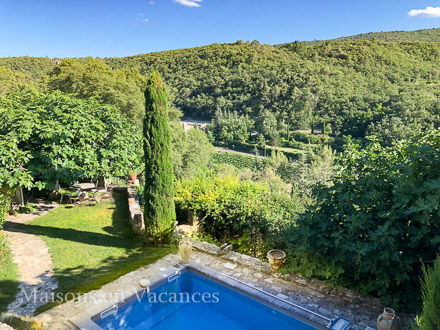 The view of the holiday rental Mas at Bonnieux ,Vaucluse