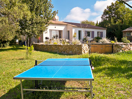 The garden of the holiday rental Villa at Tourrettes ,Var