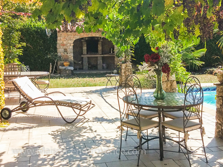 The terrace of the holiday rental Villa at St Cézaire sur Siagne ,Alpes Maritimes