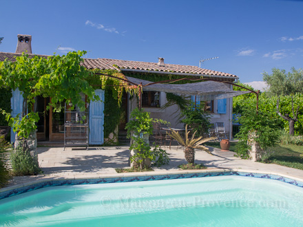 The villa of the holiday rental Villa at St Cézaire sur Siagne ,Alpes Maritimes