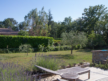 The garden of the holiday rental Villa at St Cézaire sur Siagne ,Alpes Maritimes