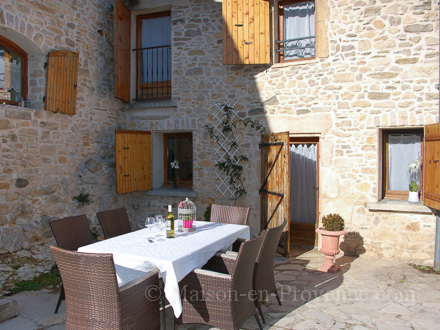 The terrace of the holiday rental Maison en pierre at Orsan ,Gard