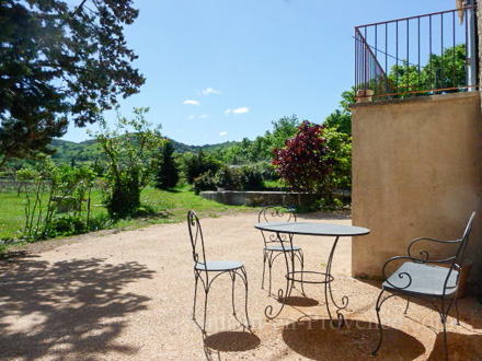 The terrace of the holiday rental Mas at Bonnieux ,Vaucluse