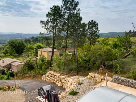 The view of the holiday rental Villa at Saint-Julien-de-Peyrolas ,Gard