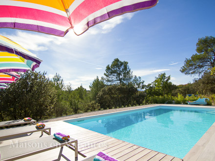 The swimming pool of the holiday rental Villa at Bras ,Var