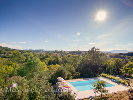 The view of the holiday rental Villa at Bras ,Var