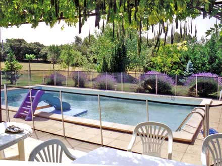 The swimming pool of the holiday rental Villa at Rognes ,Bouches du Rhône