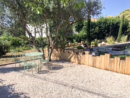 The courtyard of the holiday rental Villa at La Farlède ,Var
